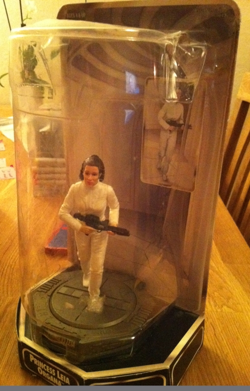 Princess Leia action figur i boksen sin